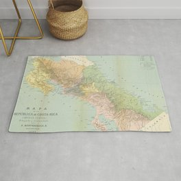 Vintage Map of Costa Rica (1889) Rug