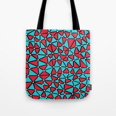 African Triangles Red and Blue Tote Bag