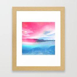 BLENDING Framed Art Print