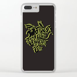 Wolves Don't Lose Sleep Clear iPhone Case