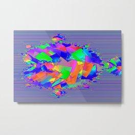 Cubifish Metal Print