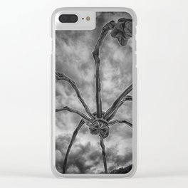 Attack of the spider Clear iPhone Case