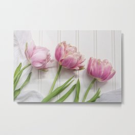 Tulips Three Metal Print
