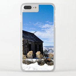 Little Forgotten Cabin Clear iPhone Case