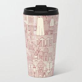 vintage halloween claret ivory Travel Mug
