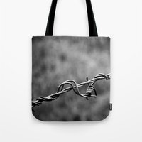 the wire Tote Bags featuring wire by blas.phgrafik