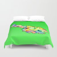 water colour Duvet Covers featuring Cavan Water Colour by Kramcox
