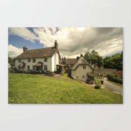 Lustleigh Cottages  Canvas Print