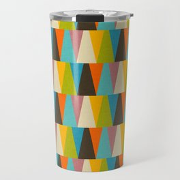 Retro Color Block Triangle Color Fun Travel Mug