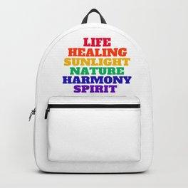LIFE HEALING SUNLIGHT NATURE HARMONY SPIRIT - RAINBOW Backpack