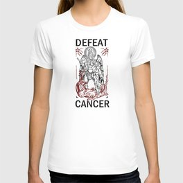 Defeat Cancer (Michael and the Dragon) T-shirt
