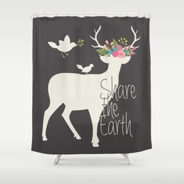 Share the Earth Shower Curtain