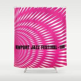 1966 Newport Jazz Festival Vintage Advertisement Poster Newport, Rhode Island Shower Curtain