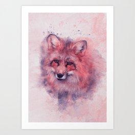 Red fox art Art Print