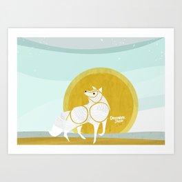 WOLF MOON RISING Art Print
