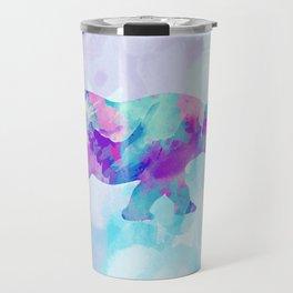 Abstract Rhino B Travel Mug