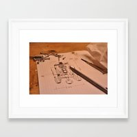 r2d2 Framed Art Prints featuring R2D2 by radiantlee