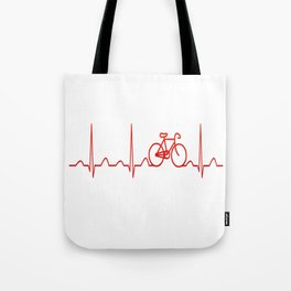 BICYCLE HEARTBEAT Tote Bag