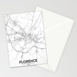 Minimal City Maps - Map Of Florence, Italy. Stationery Cards