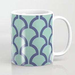Classic Fan or Scallop Pattern 485 Blue and Green Coffee Mug