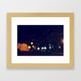 la pluie Framed Art Print