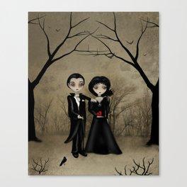 Dark Gothic Romance Betrothed Canvas Print