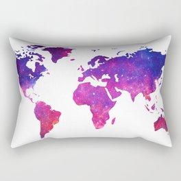 Galaxy Earth (Color) Rectangular Pillow