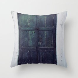 Santorini Door II Throw Pillow