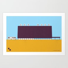 A1A Car Wash Art Print