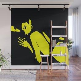 Seductive Look Yellow & Black Wall Mural