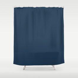 Pratt and Lambert 2019 Noir Dark Blue 24-16 Solid Color Shower Curtain