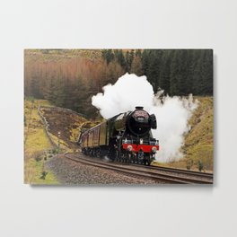 60103 Flying Scotsman at Blea Moor Metal Print