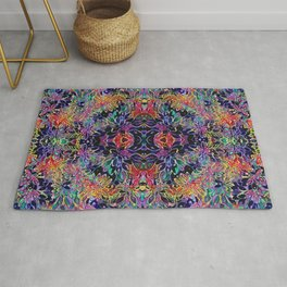 Colorful Seamless Flower Pattern Rug