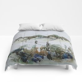 Sand Dunes and Rock Pools Comforters