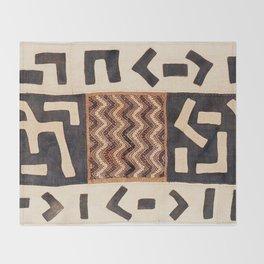 Kuba Congo Central African Wraparound Skirt Print 2 Throw Blanket