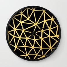 Broken Gold Wall Clock