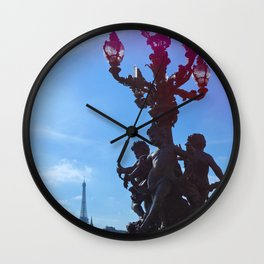 Paris, France - Light Refraction Wall Clock