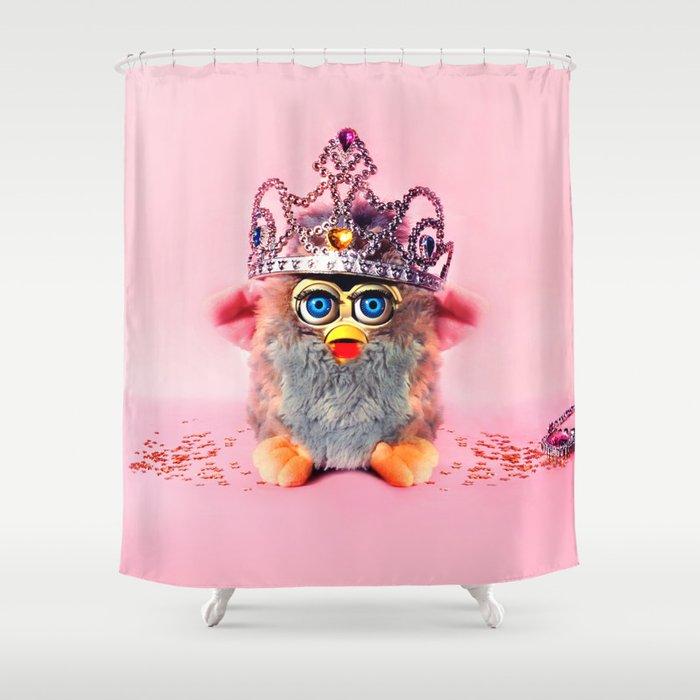 Furby Princess Shower Curtain