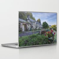 cafe Laptop & iPad Skins featuring Lakeside Cafe by Ian Mitchell