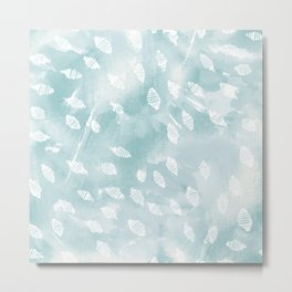 Shell Scatter Metal Print