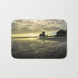Before Sunset Motukiekie Beach Pano In Greymouth West Coast New Zealand By Olena Art Bath Mat