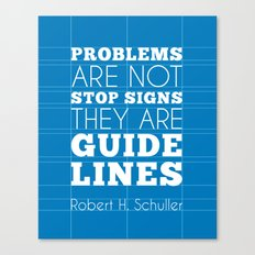 Guide Lines - Robert H. Schuller Quote Canvas Print
