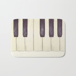 Ebony and Ivory Bath Mat