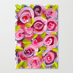 Roses on Roses on Roses Canvas Print