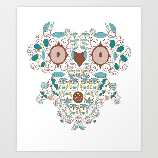 Count them owl Art Print