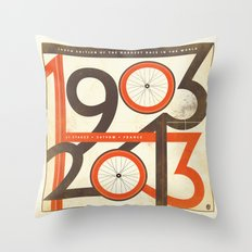 100 Years of The Tour de France Throw Pillow