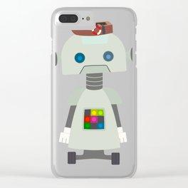 Retro Robot Robo Fashionista Clear iPhone Case