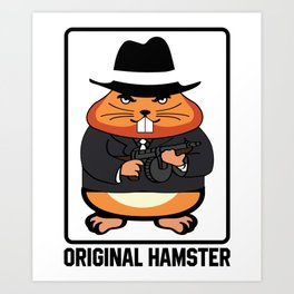Armed Hampster - Funny Animals Art Print