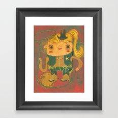 Vaquera Framed Art Print