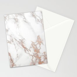 Rosey Marble Stationery Cards